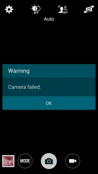 Galaxy S5 Camera Failed