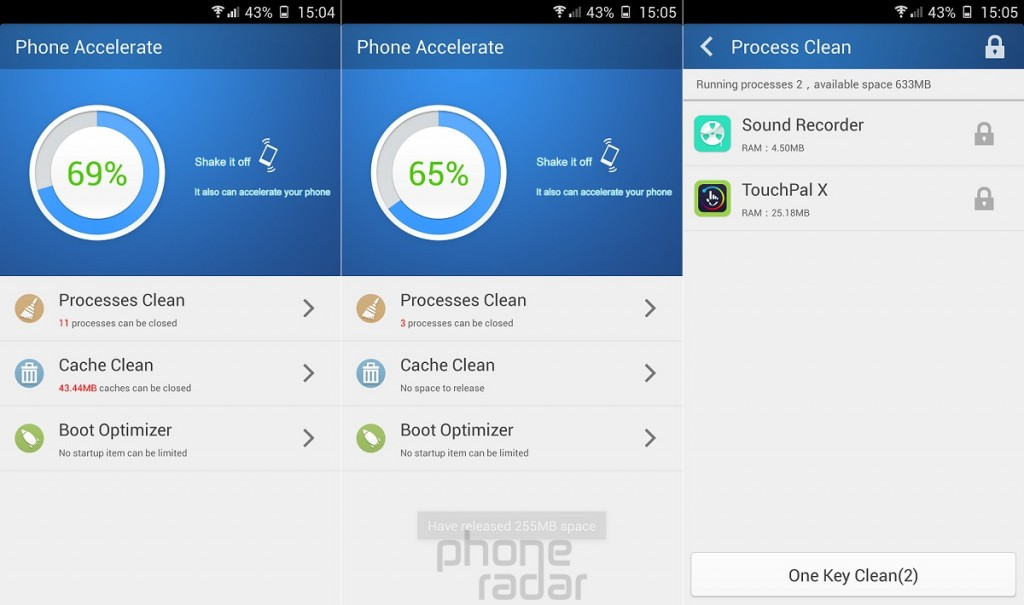 Gionee Elife E7 Phone Accelerate