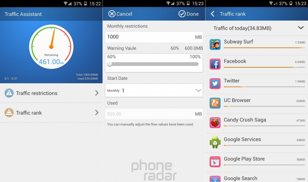 Gionee Elife E7 Traffic Assistant