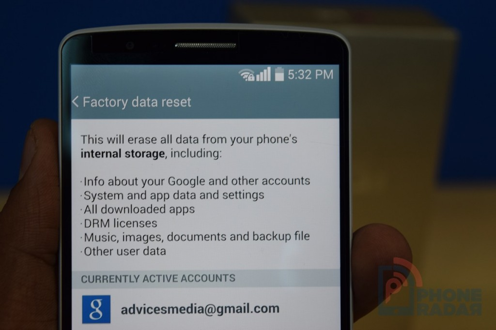 LG G3 Tip Factory Data Reset