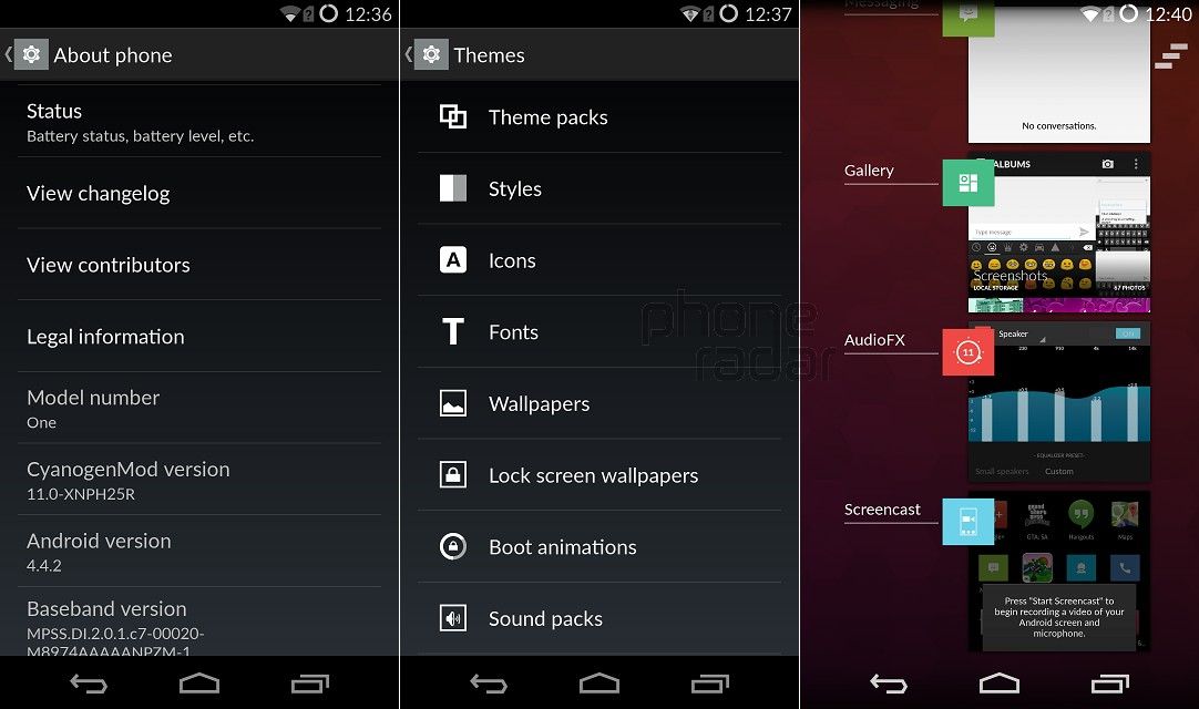 OnePlus One Interface Settings