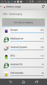 Xperia Z2 battery with 720p 2