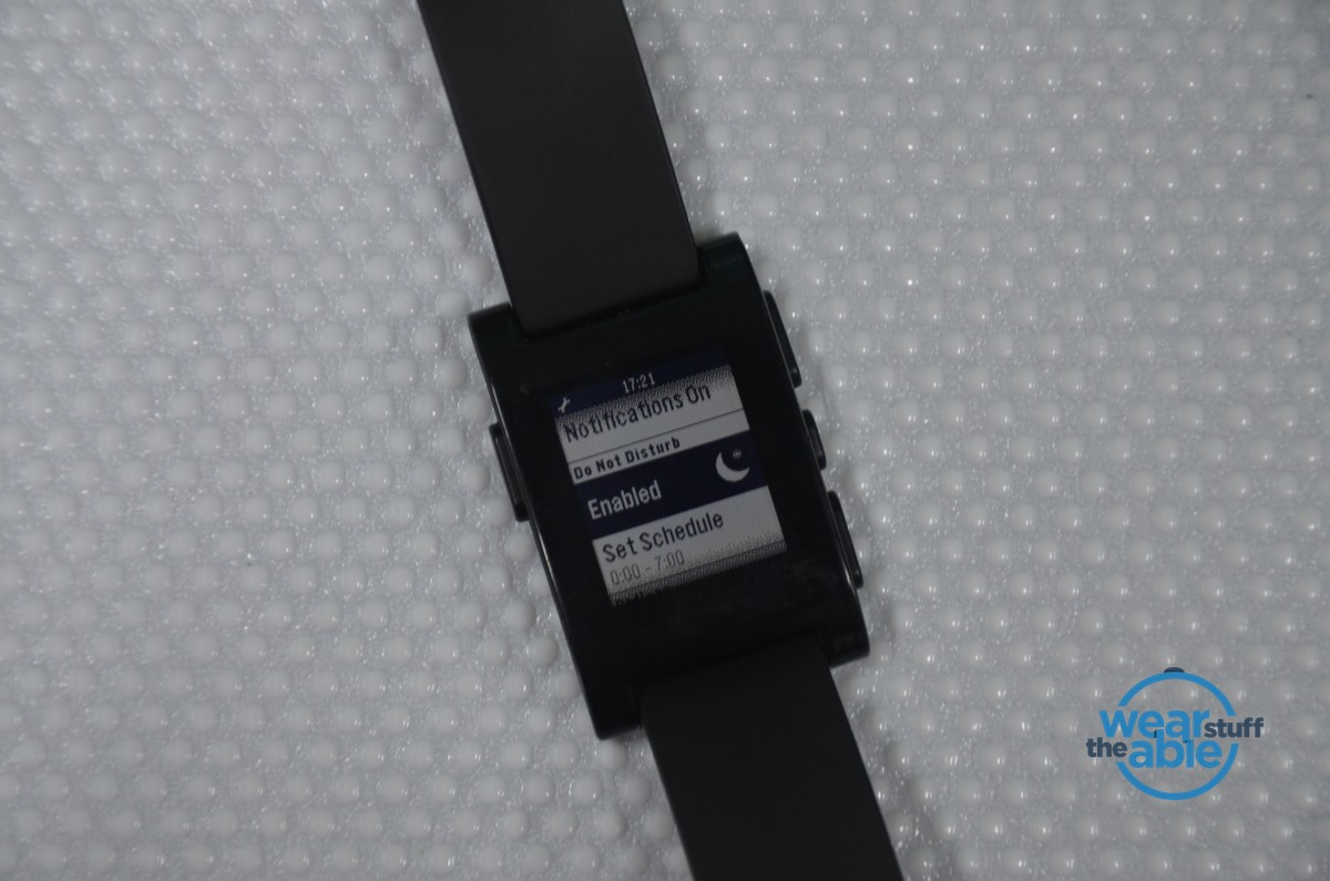 Do Not Disturb - Pebble Smartwatch