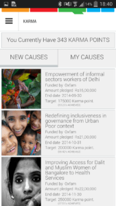 GOQii Android App - Causes