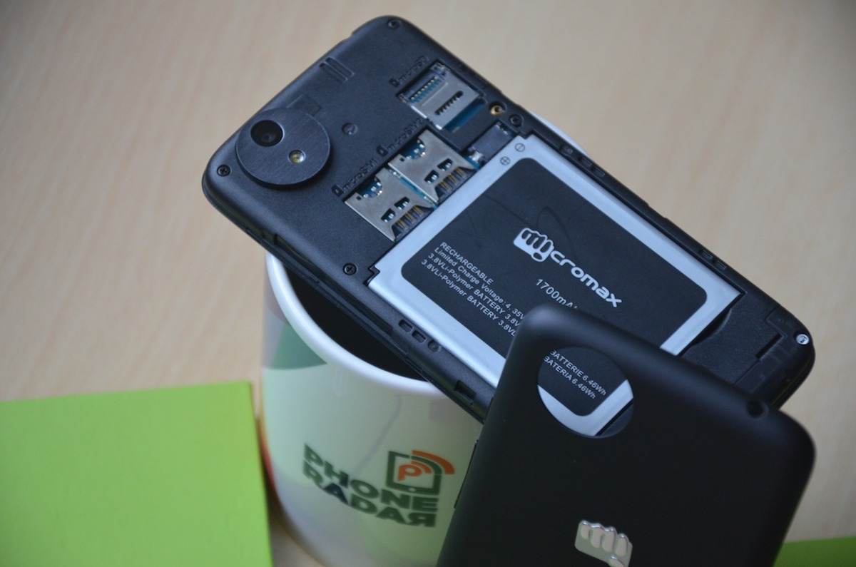 Micromax Canvas A1 Back Slots