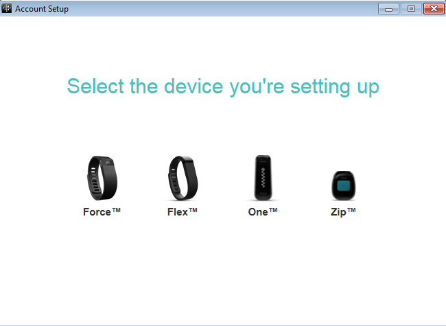 Select the Fitbit One
