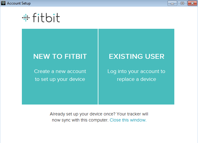 Setup your account - Fitbit One