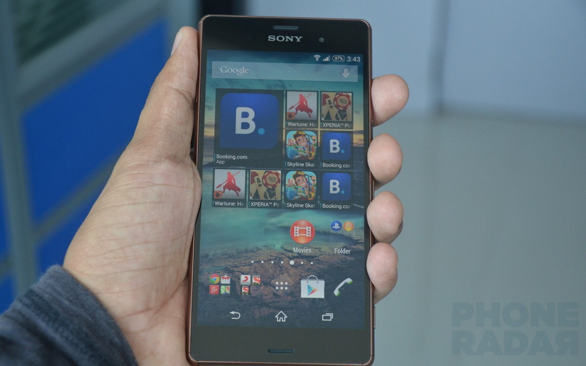 Sony Xperia Z3 Hands-on front