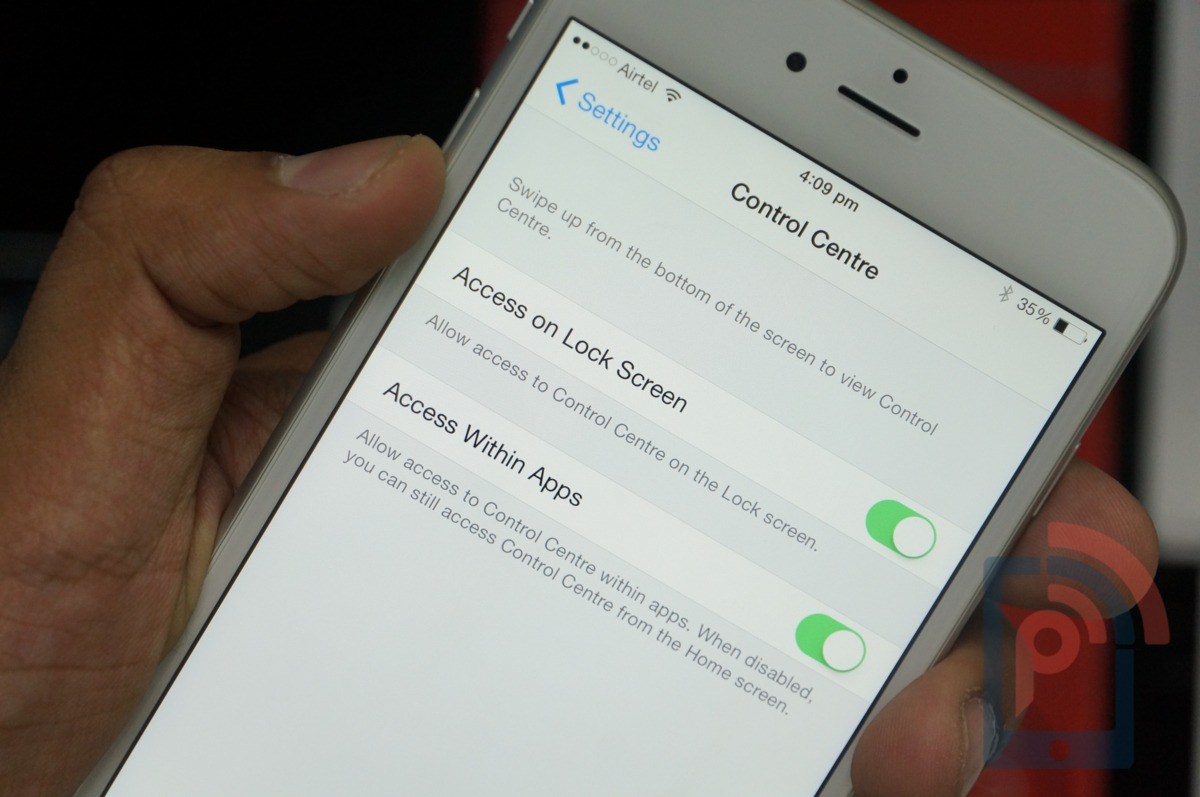 Apple iPhone 6 Tip Control Center Access