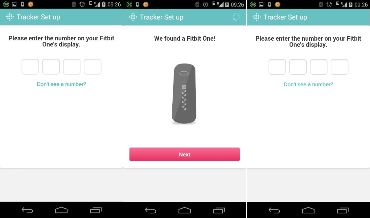 FitBit One - Authenticate your Tracker