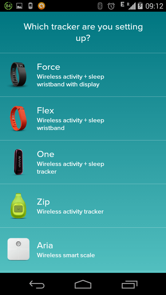 Fitbit device list