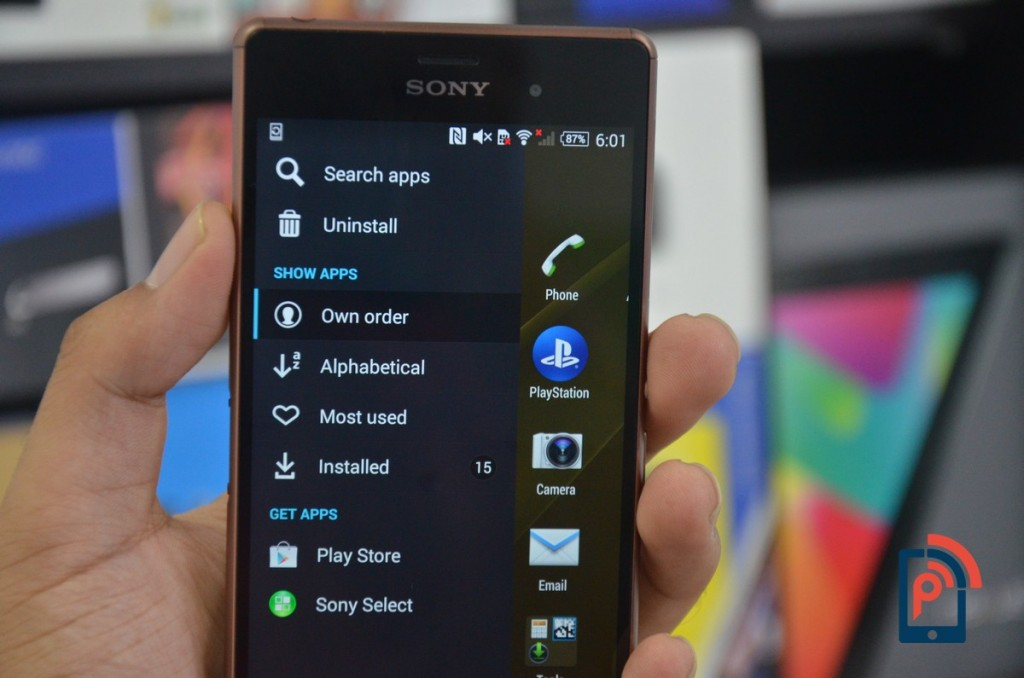 Sony Xperia Z3 - App Drawer