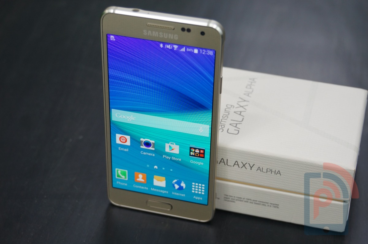 Samsung Galaxy Alpha Review Box