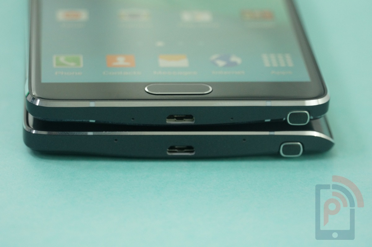 Galaxy Note 4 vs Note Edge Bottom