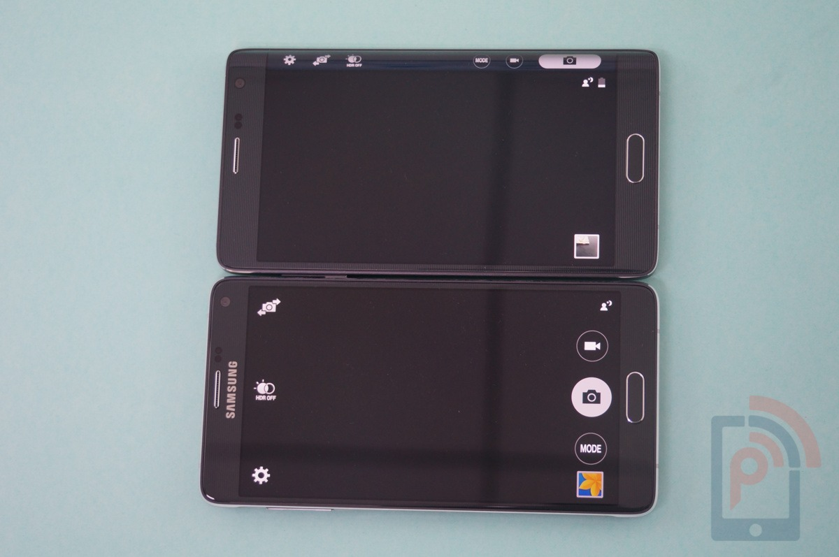 Galaxy Note 4 vs Note Edge Camera App