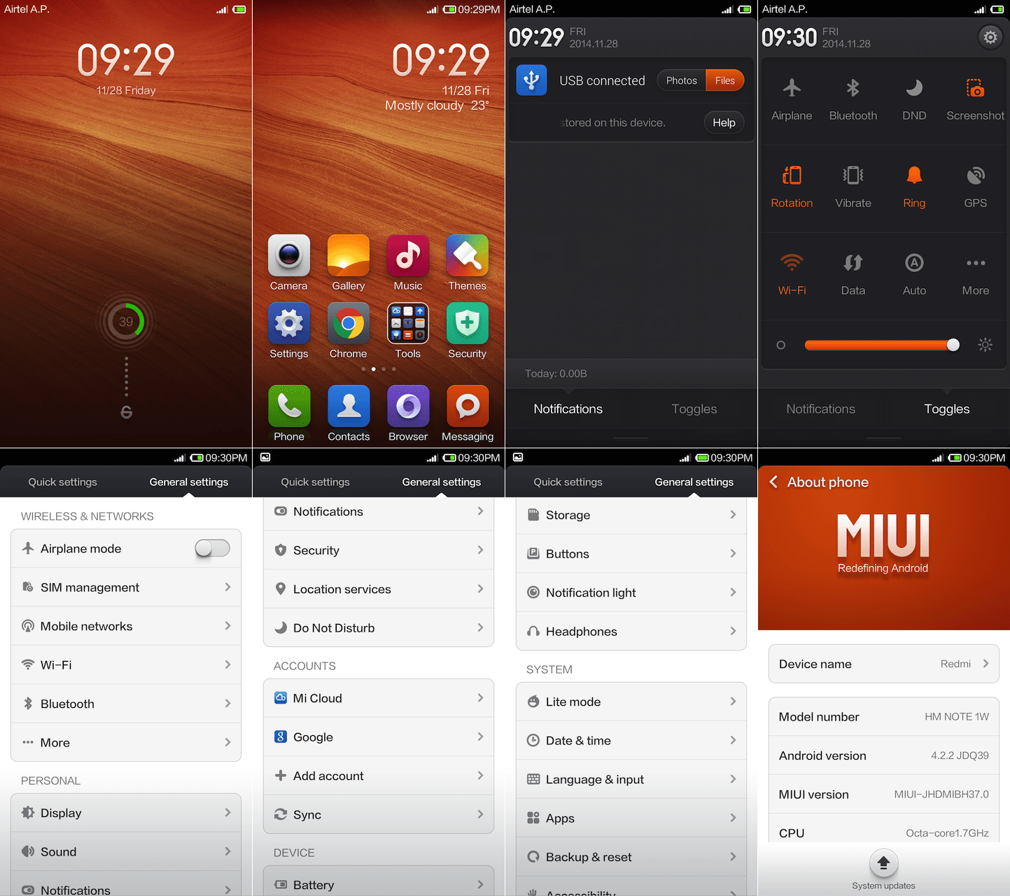 Xiaomi Redmi Note Interface