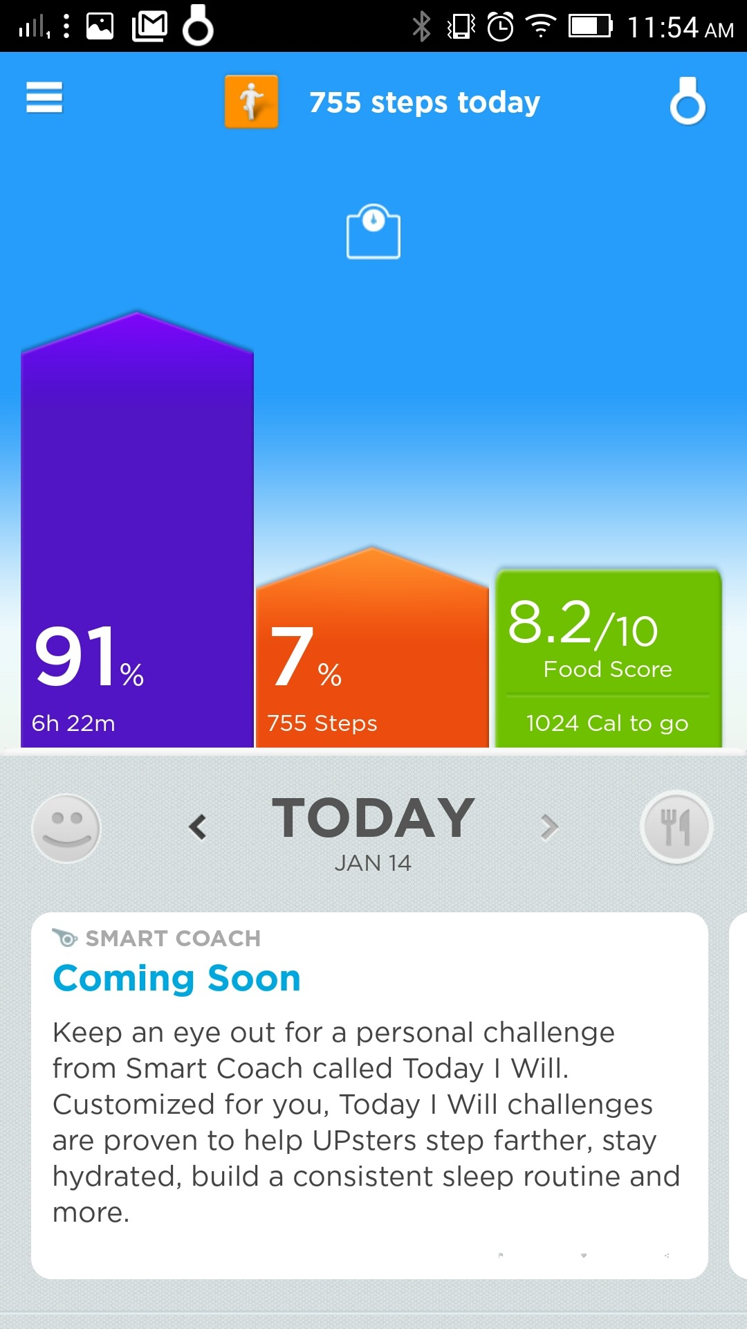 Jawbone UP Move - Smart Coach