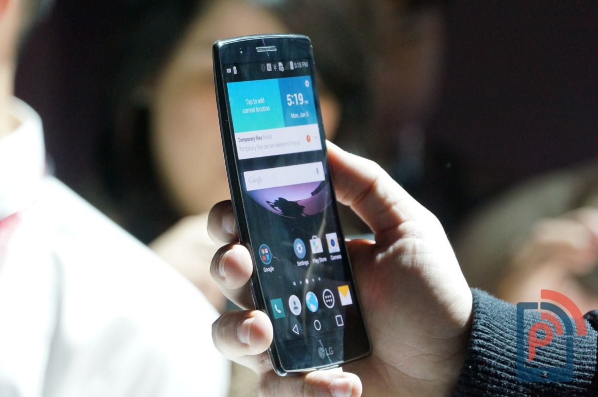 LG G Flex 2 Hands-on Curve