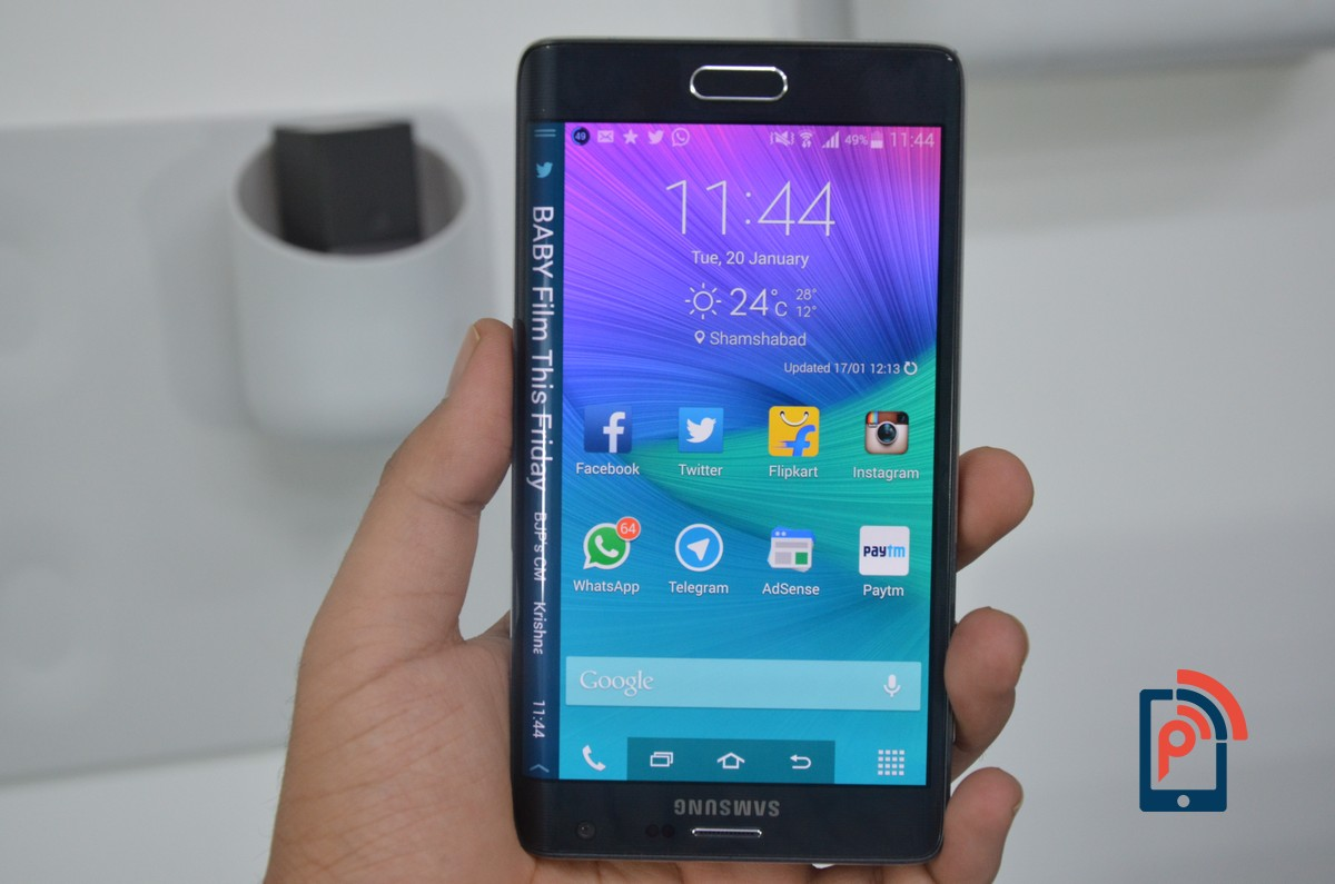 Samsung Galaxy Note Edge - Left Hand Use for Edge Screen