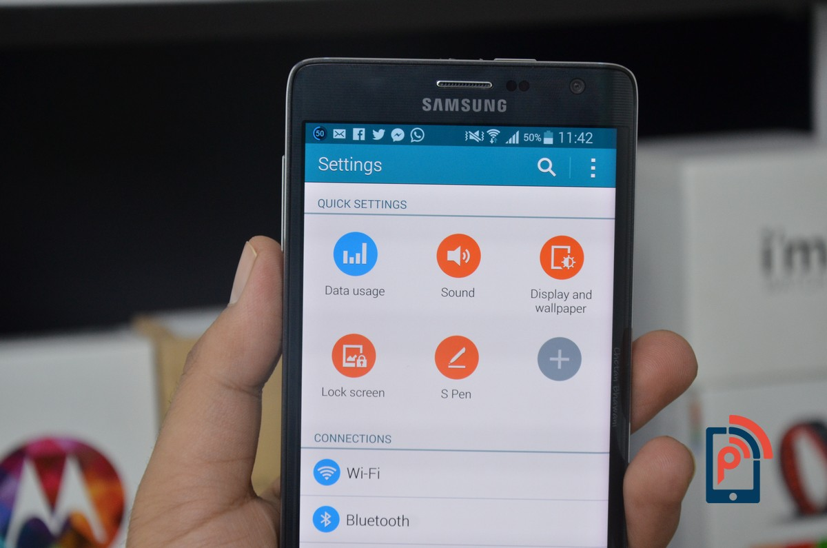 Samsung Galaxy Note Edge - Quick Settings