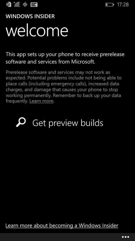 Windows 10 Preview for Phones - Get Preview Builds