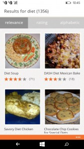 Allrecipes App for Windows Phone