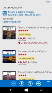 Hotels.com App Windows Phone