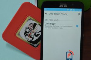 Asus Zenfone2 Delux- One Hand Mode