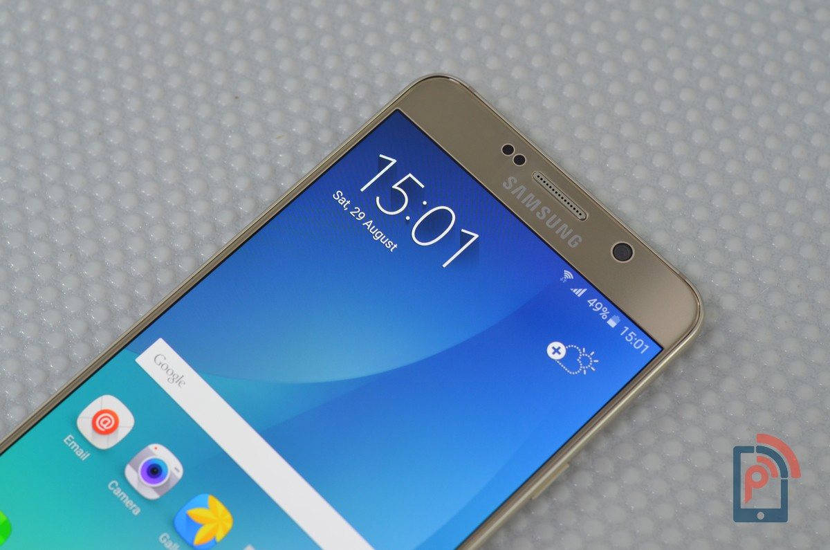 Samsung Galaxy Note 5 - Front Top