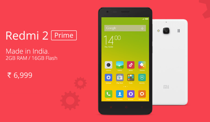 Xiaomi Redmi 2 Prime With 2gb Ram  16gb Internal Storage
