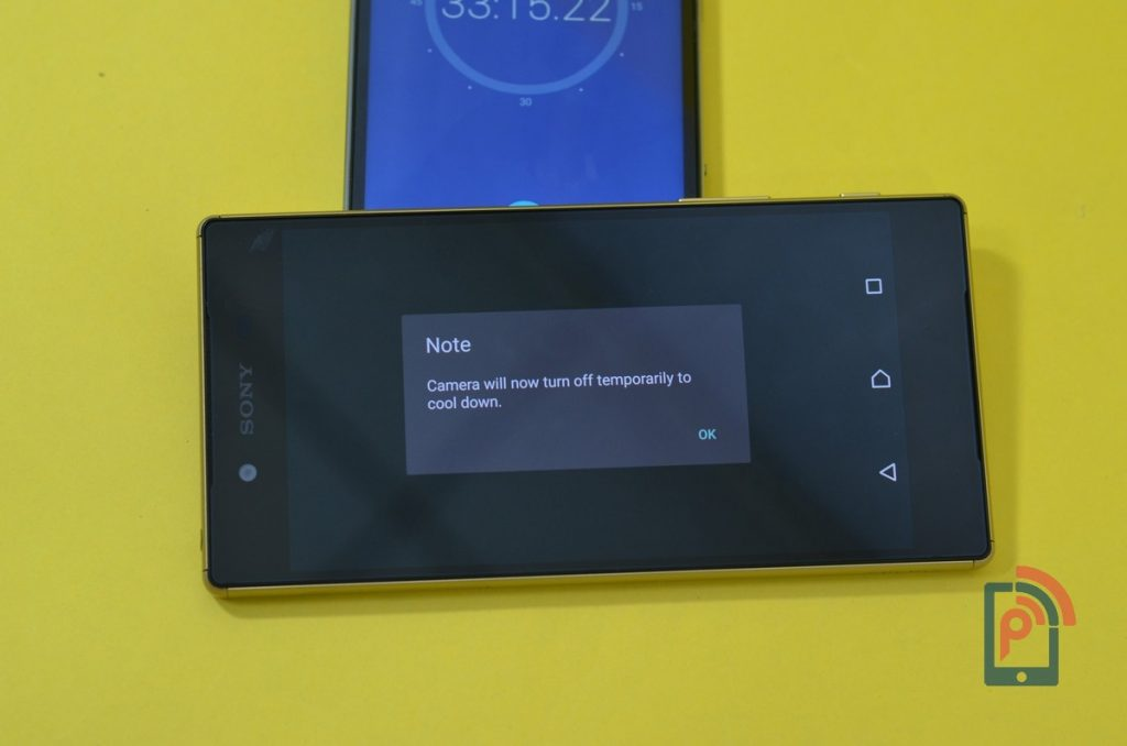 Sony Xperia Z5 - Camera Close Dialog Box