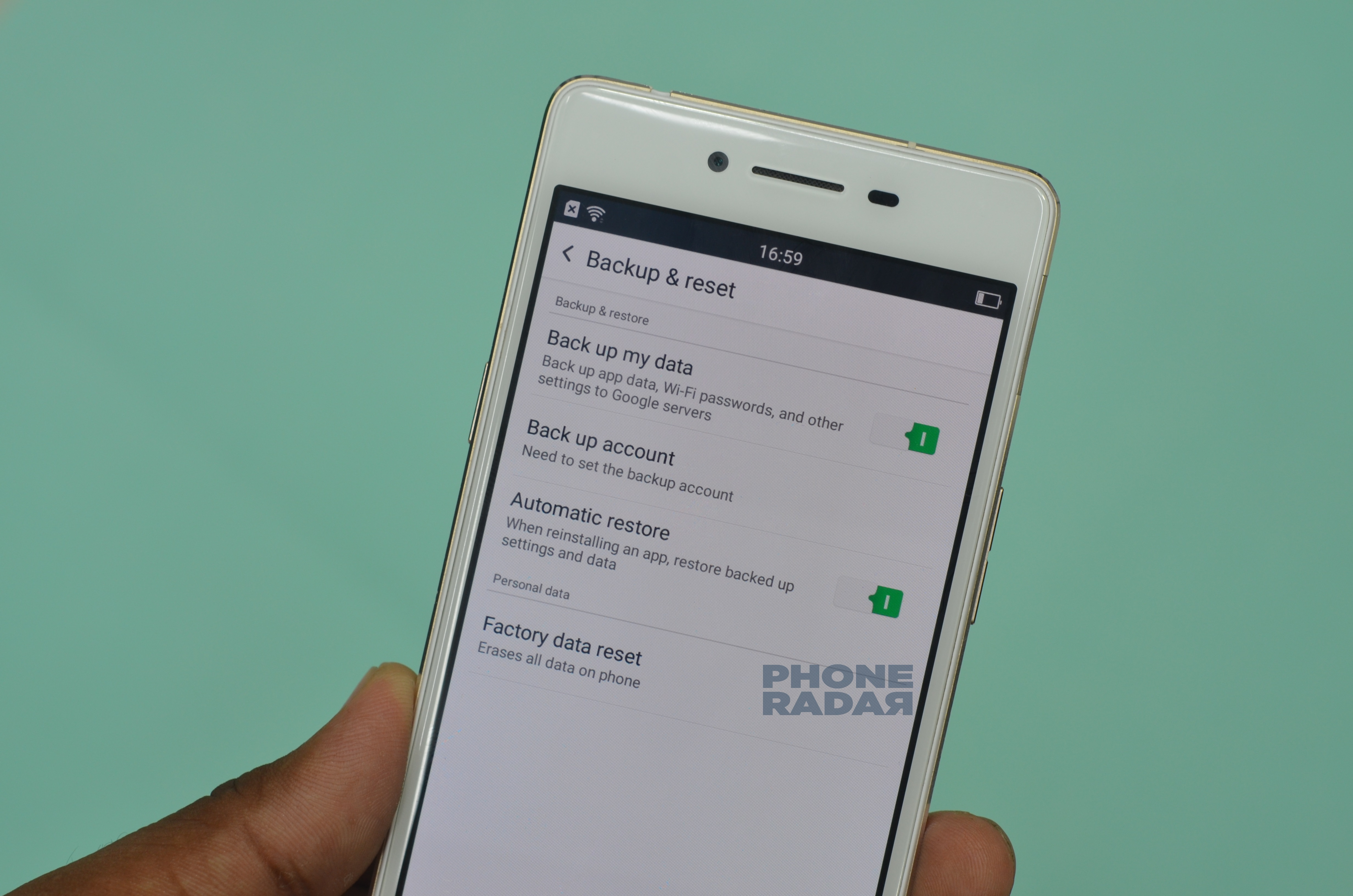 Oppo R7 Lite Backup and reset