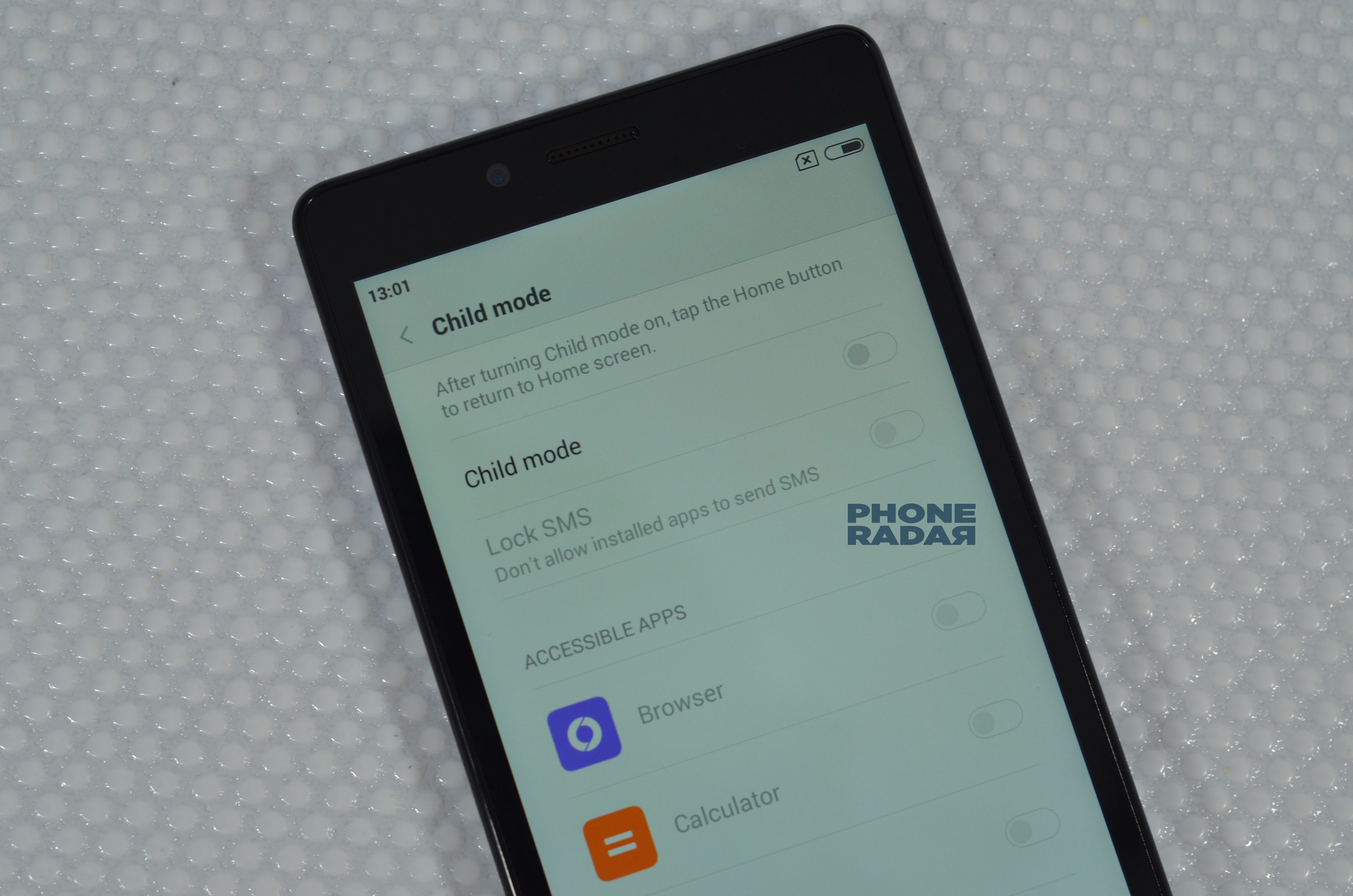 Xiaomi Redmi Note Prime Child mode