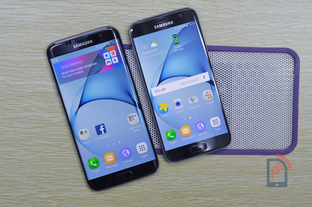 Samsung Galaxy S7 Vs Samsung Galaxy S7 Edge Comparison