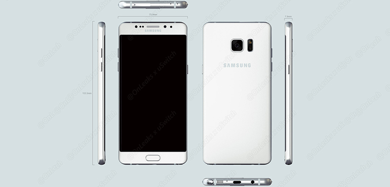 Samsung Galaxy Note 7 3d