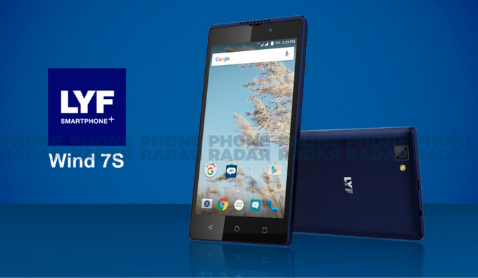 lyf wind 7s 4g smartphone with 5 hd display amp android marshmallow os launched phoneradar