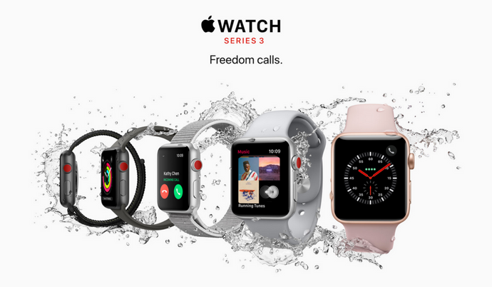 New Apple Watch Series 3 Launched with Siri, LTE Support ...