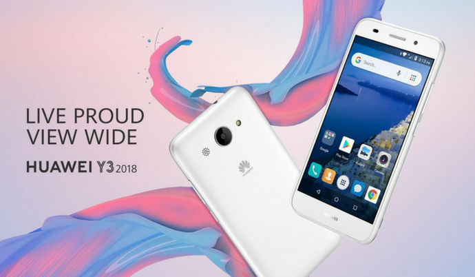 Huawei Y3 (2018) is official with Android Oreo (Go Edition)